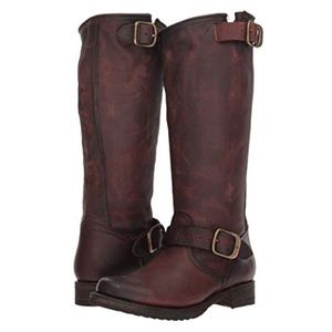 Frye Veronica Slouch Boot In Redwood Brown 🌿